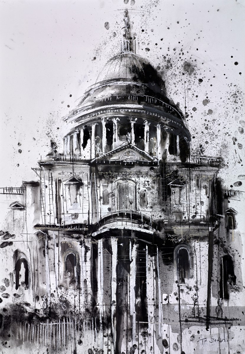 St Paul's Cathedral, London by tim steward -  sized 28x39 inches. Available from Whitewall Galleries